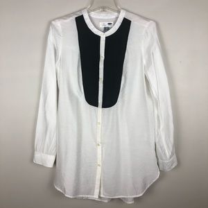 Old Navy Womens Tunic Black White Small NWOT